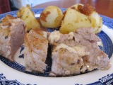 Herb and Cheese Stuffed Pork Tenderloin