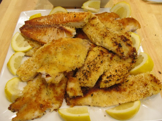 Panko crusted white fish