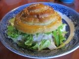 Chicken Caesar Sandwiches with PretzelBuns